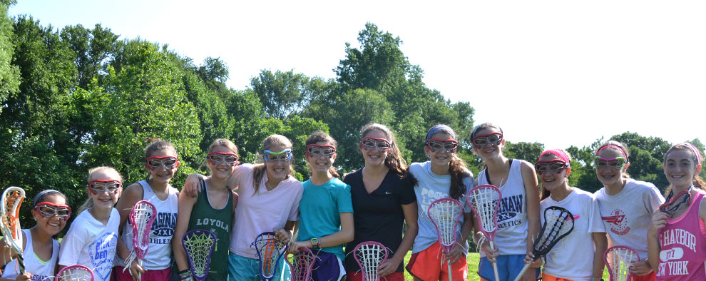 Saginaw Campers playing lacrosse