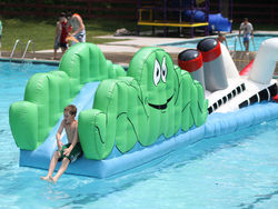 When a pool needs a pickup, get a waterslide.